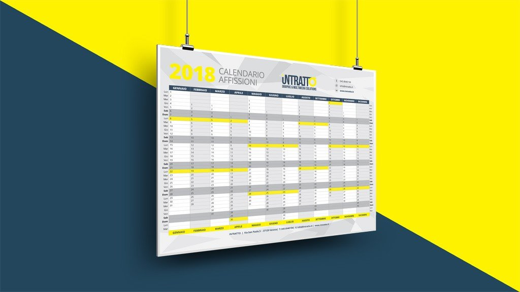 calendario delle affissioni
