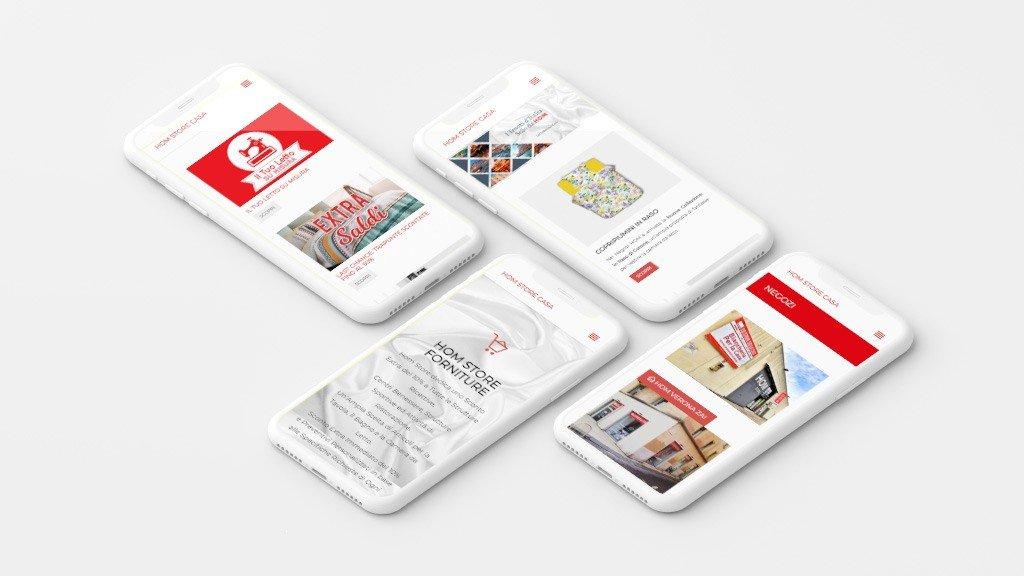 homstorecasa sito mobile web design