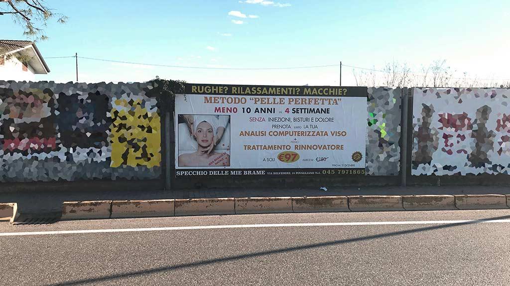 affissioni pubblicitarie outdoor villafranca maxi formato