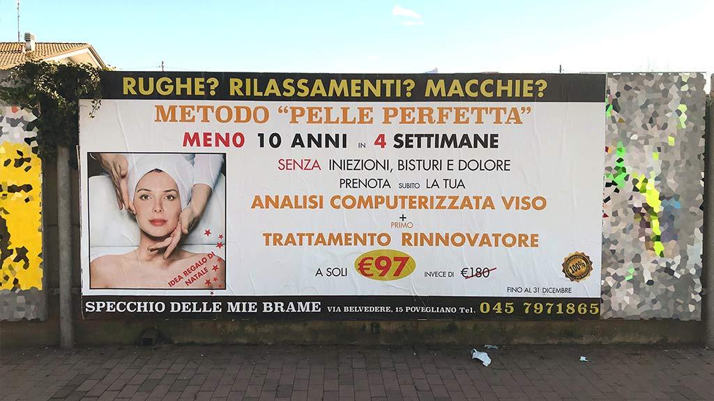 maxi formato affissioni pubblicitarie outdoor villafranca