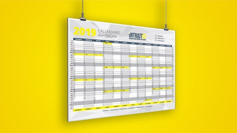 CALENDARIO AFISSIONI OUTDOOR 2019