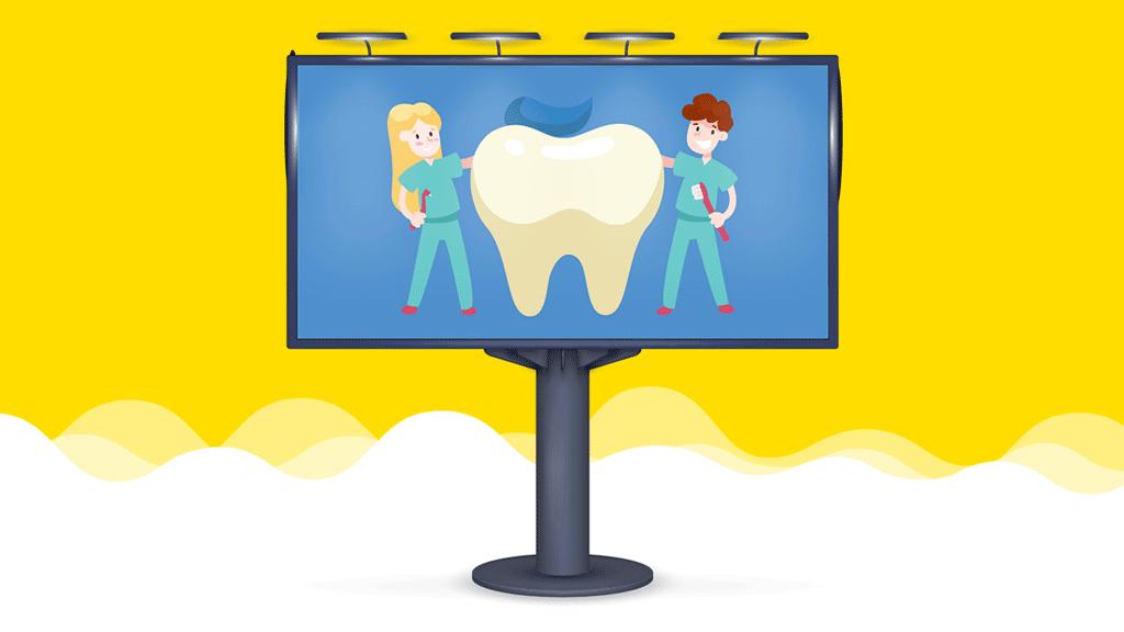cure dentali pubblicita outdoor intratto